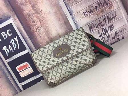 Gucci新款专柜品质手提包495654 啡胶啡猪纹皮