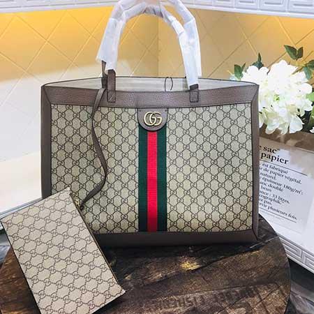 Gucci Ophidia横款购物袋 GG高级人造帆布547974
