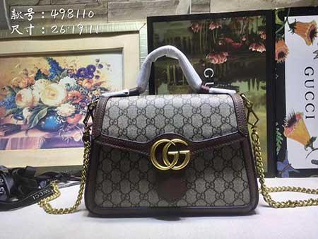 official photos d2cd3 8c59e GG Marmont单肩包双G logo带着Gucci文艺浪漫的故事- 古奇高仿男女包